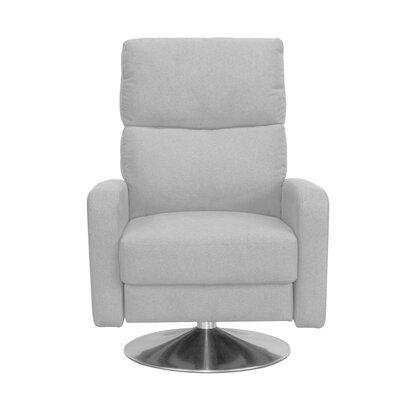 Roux Push Back Manual Swivel Recliner Upholstery: Gray