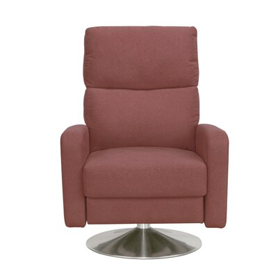 Roux Push Back Manual Swivel Recliner Upholstery: Pomegranate