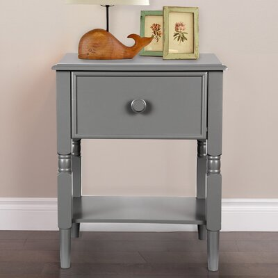 Zola 1 Drawer Nightstand Color: Twilight Gray