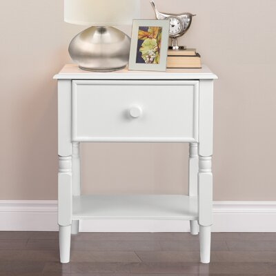 Zola 1 Drawer Nightstand Color: Pure White