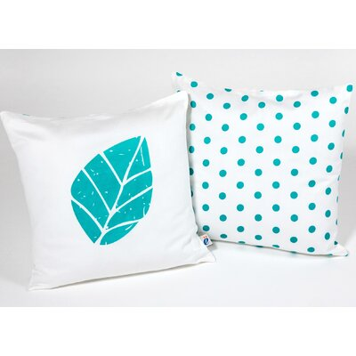 Leaf Kid Cotton Throw Pillow