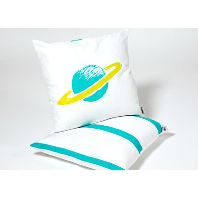 Planet Kid Cotton Throw Pillow