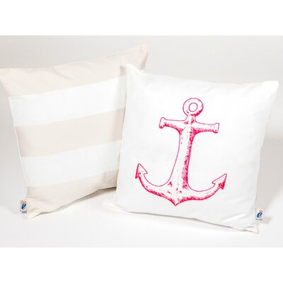 Anchor Kid Cotton Throw Pillow