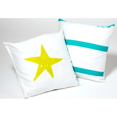 Star Kid Cotton Throw Pillow