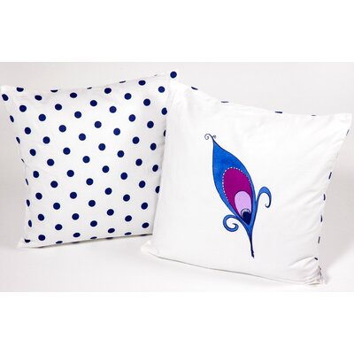 Peacock Feather Kid Cotton Throw Pillow