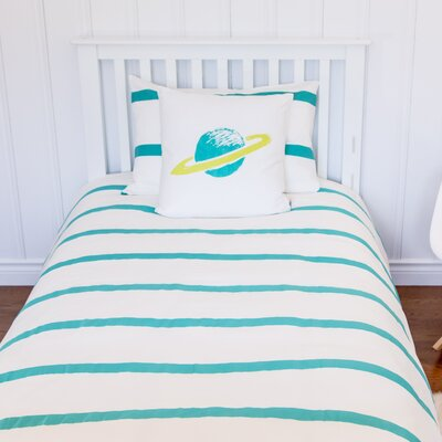 Rocket Organic Kid Duvet Cover Size: Twin