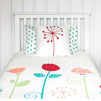Flower Organic Kid Duvet Cover Size: Double