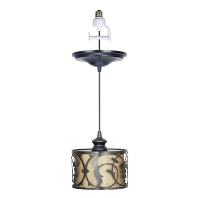 Recessed 1-Light Drum Pendant