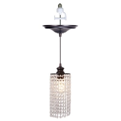 Instant 1-Light Crystal Mini Pendant