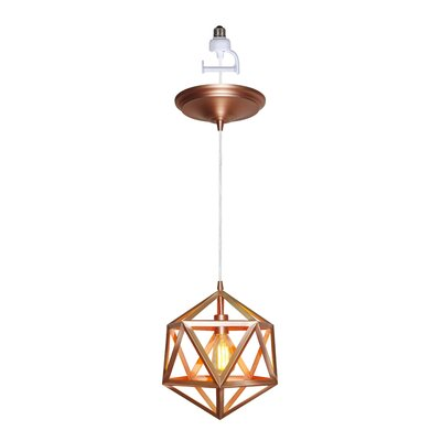 Trinity 1-Light Mini Pendant Finish: Copper