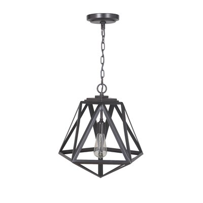 Hardwired 1-Light Foyer Pendant Finish: Brushed Bronze