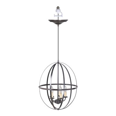 Orb Sphere 5-Light Foyer Chandelier Finish: Brushed Bronze