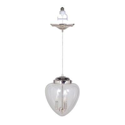 Recessed 3-Light Chandelier Pendant