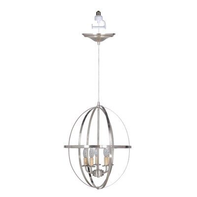 Orb Sphere 5-Light Foyer Chandelier Finish: Brushed Nickel