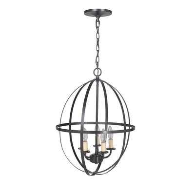 Hardwired Orb Sphere 5-Light Chandelier Finish: Brushed Bronze