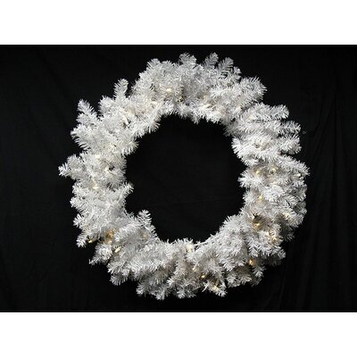 "Pre-Lit Battery Operated Artificial Christmas Wreath Size: 30"" H x 30"" W, Lights Color: Multi"