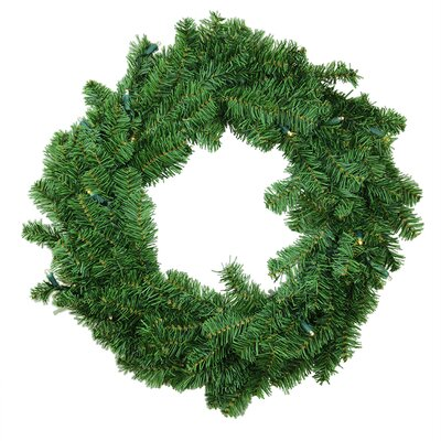"Battery Operated Canadian Pine Artificial Christmas Wreath Size: 36"" H x 36"" W"