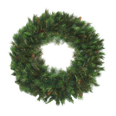 "Royal Oregon Long Needle Pine Artificial Christmas Wreath Size: 48"" H x 48"" W"