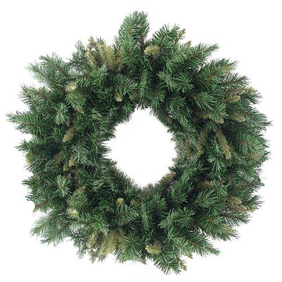 Rich Mixed Pine Artificial Christmas Wreath Size: 36