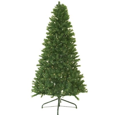 9' Green Canadian Pine Artificial Christmas Tree with 1100 Clear Lights