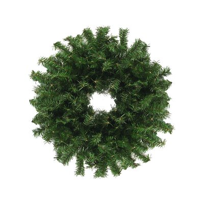 """Artificial Christmas Wreath Size: 24"""" H x 24"""" W, Color: Green"""