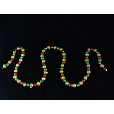 6' Shimmering Holographic Mini Ball Christmas Garland