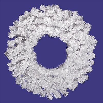 Pre-Lit Artificial Christmas Wreath with Clear Lights