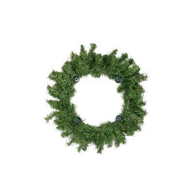 """Two-Tone Pine Artificial Christmas Advent Wreath Size: 12"""" H x 12"""" W"""