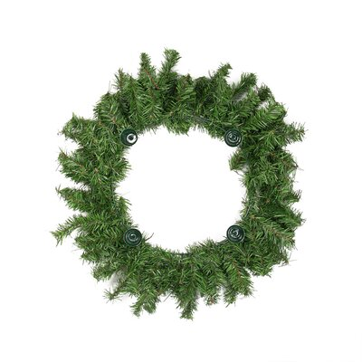 """Two-Tone Pine Artificial Christmas Advent Wreath Size: 18"""" H x 18"""" W"""