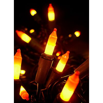 20 Light Opaque Candy Corn Mini Halloween Light String