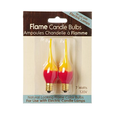 Fire Flame Electric Candle Lamp Replacement Light Bulb (Pack of 2)