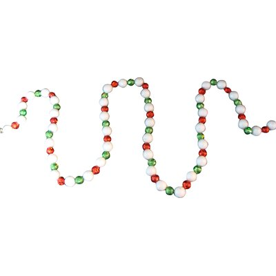 Shimmering Holographic Mini Ball Christmas Garland Color: Red
