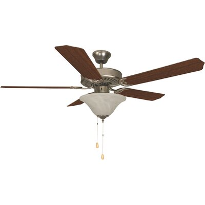 Bala Dual Mount 5 Blade Ceiling Fan Finish: Brushed Pewter
