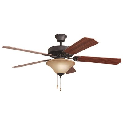 Bala Dual Mount 5 Blade Ceiling Fan Finish: Aged Bronze