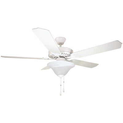 Bala Dual Mount 5 Blade Ceiling Fan Finish: White