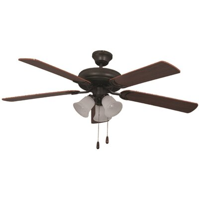Bala Dual Mount 5-Blade Ceiling Fan Finish: Bronze