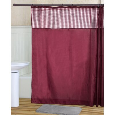 Ripley Shower Curtain Set Color: Burgundy