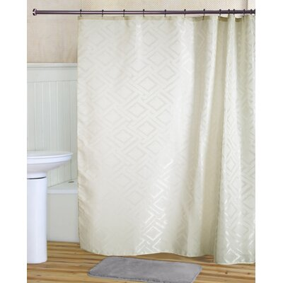 Tatum Shower Curtain Set Color: Beige