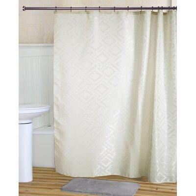 Tatum Shower Curtain Set Color: Beige