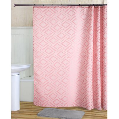 Tatum Shower Curtain Set Color: Coral