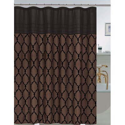 Riley Shower Curtain Set Color: Chocolate