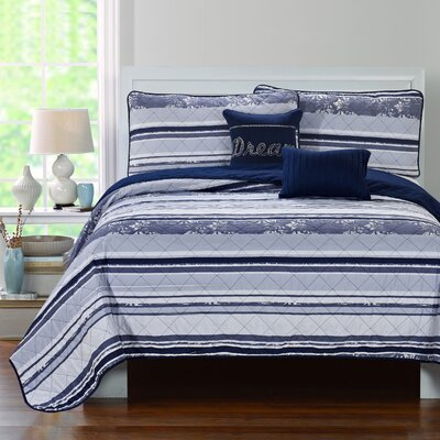Jean Cottage 5 Piece Quilt Set Size: Queen