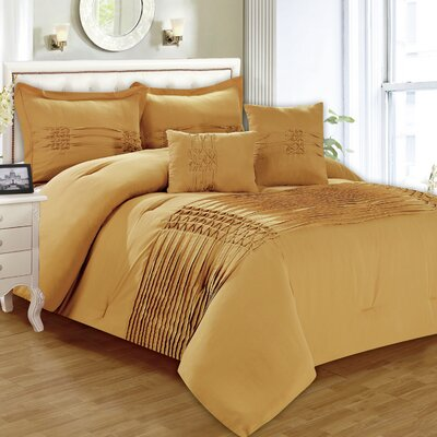 Astoria 5 Piece Comforter Set Size: Queen, Color: Taupe