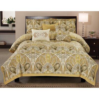 Amaretto 6 Piece Comforter Set Size: Queen