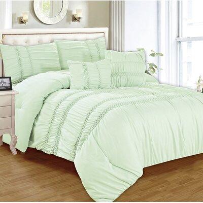 Waldorf 5 Piece Comforter Set Size: King, Color: Aqua