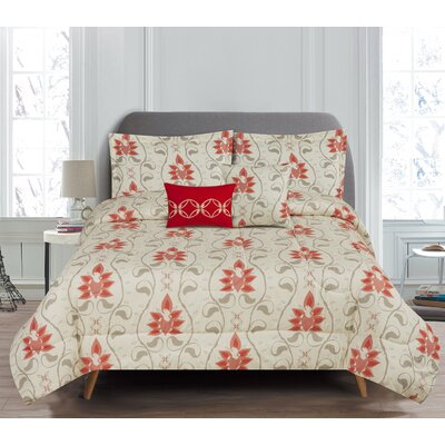 Colby 5 Piece Comforter Set Size: Queen