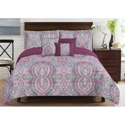 Brisbane 6 Piece Comforter Set Size: King