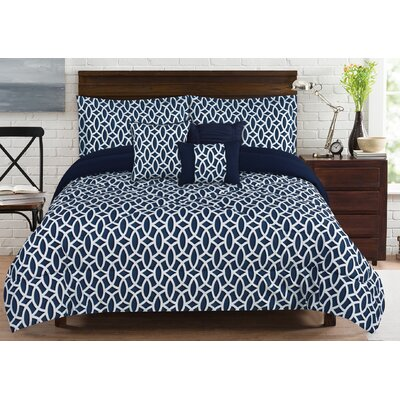 Geo 6 Piece Comforter Set Size: King