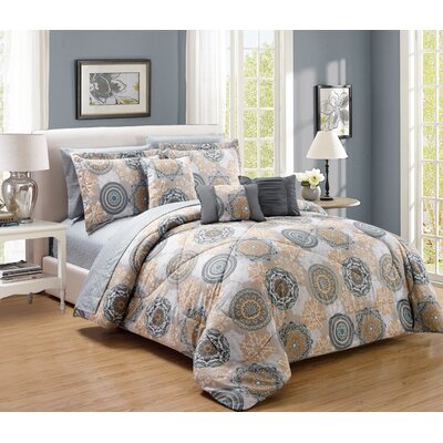 Gramercy 10 Piece Comforter Set Size: Queen