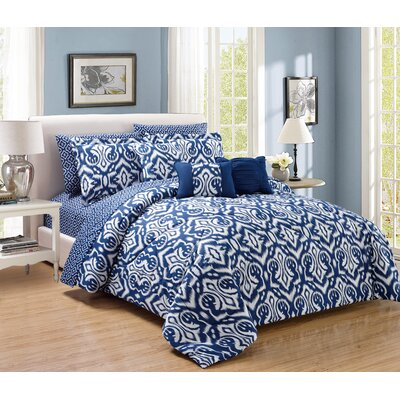 Native 10 Piece Comforter Set Size: Queen